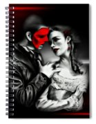 Love Couple 2 Spiral Notebook