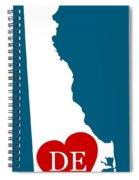 Love Delaware White Spiral Notebook
