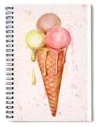 Love Ice Cream Spiral Notebook