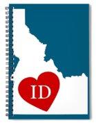 Love Idaho White Spiral Notebook