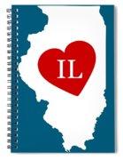 Love Illinois White Spiral Notebook