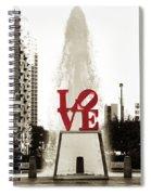Love In Philadelphia Spiral Notebook