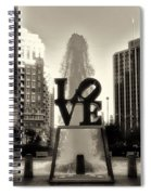 Love In Sepia Spiral Notebook