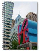 Love In The City - Philadelphia Spiral Notebook