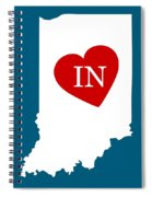 Love Indiana White Spiral Notebook