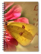 Love Is Like A Butterfly Spiral Notebook