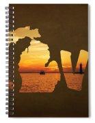 Love Lake Michigan Spiral Notebook