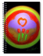 Love Landscape Three Spiral Notebook