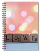Love Lights Square Spiral Notebook