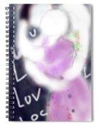 Love Lock Spiral Notebook
