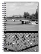 Love Locks Over The Seine Spiral Notebook