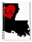 Love Louisiana Black Spiral Notebook