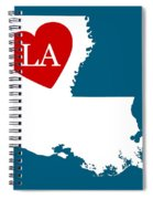 Love Louisiana White Spiral Notebook