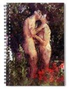Love Me In The Garden Spiral Notebook