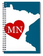 Love Minnesota White Spiral Notebook