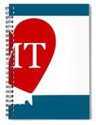 Love Montana White Spiral Notebook