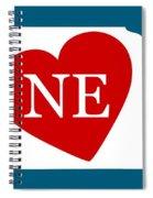 Love Nebraska White Spiral Notebook