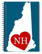 Love New Hampshire White Spiral Notebook