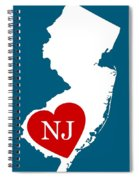 Love New Jersey White Spiral Notebook