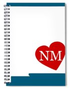 Love New Mexico White Spiral Notebook