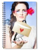 Love Note Delivery From The Heart Spiral Notebook