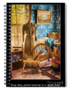 Love Of Sewing Poster Spiral Notebook