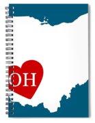 Love Ohio White Spiral Notebook