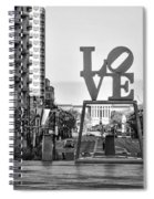 Love On The Parkway In Black And White Spiral Notebook