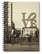 Love On The Parkway In Sepia Spiral Notebook