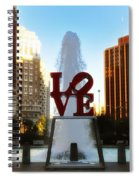 Love Park - Love Conquers All Spiral Notebook