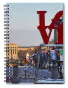 Love Park And The Parkway In Philadelphia Spiral Notebook