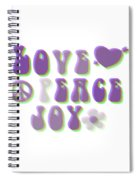 Love Peace And Joy Spiral Notebook