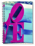 Love Philadelphia Neon Pink Spiral Notebook