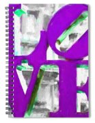 Love Philadelphia Purple Digital Art Spiral Notebook