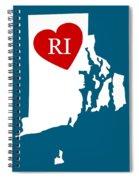 Love Rhode Island White Spiral Notebook