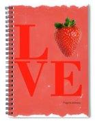 Love Strawberry Spiral Notebook