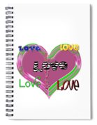 Love T-shirt Clothing Spiral Notebook