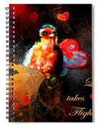 Love Takes Flight Spiral Notebook