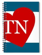 Love Tennessee White Spiral Notebook