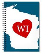 Love Wisconsin White Spiral Notebook