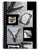 Love Written In The Trees 4 Spiral Notebook