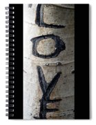 Love Written In The Trees 5 Spiral Notebook