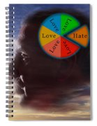 Lovehate Relationship Spiral Notebook