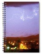 Loveland Colorado Front Range Foothills  Lightning Thunderstorm Spiral Notebook