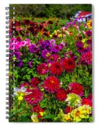 Lovely Dahlia Garden Spiral Notebook