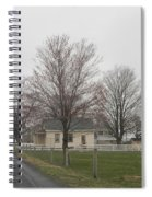 Lovely Day At An Amish Schoolhouse Spiral Notebook