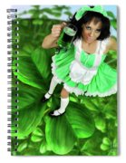 Lovely Irish Girl With A Glass Of Green Beer Spiral Notebook