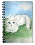 Lovely Kitty. White Cat Kusyaka Spiral Notebook