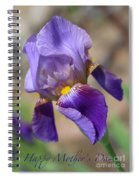Lovely Leaning Iris Mother's Day Card Spiral Notebook