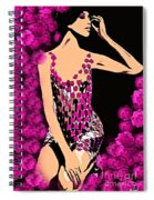 Lovely Luna Among The Roses C 1966 Spiral Notebook